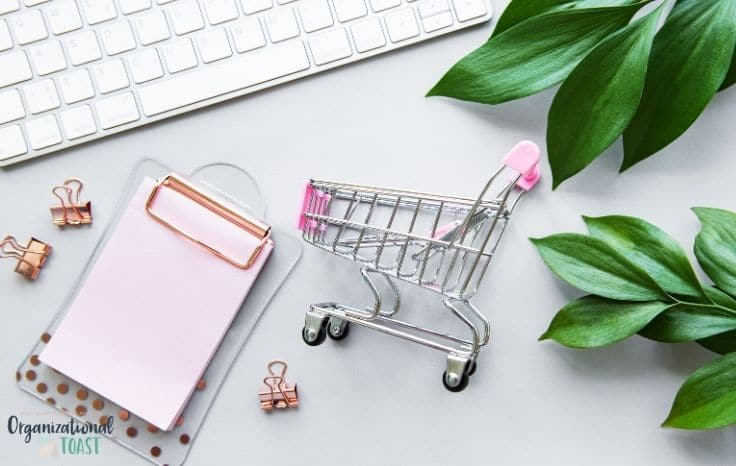 Grocery cart and online shopping