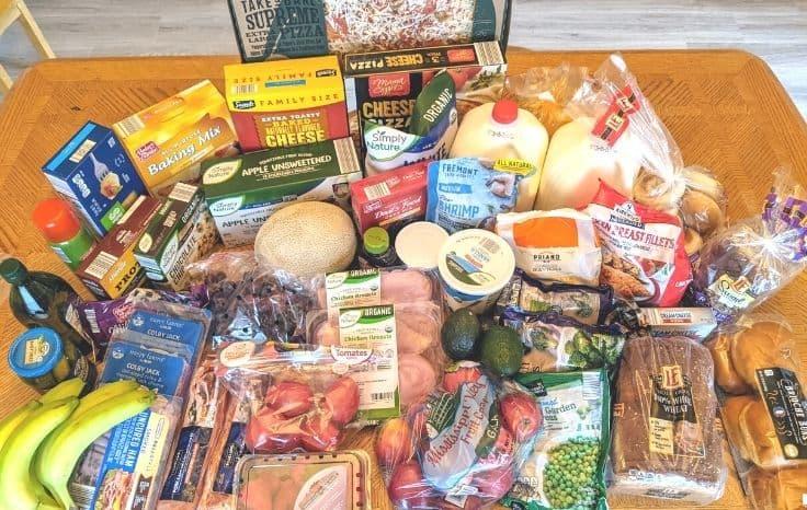 Aldi Groceries on Table