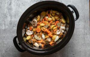 vegetables in slow cooker